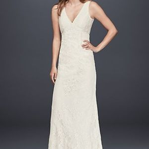 Galina Ivory Sheath Wedding Dress